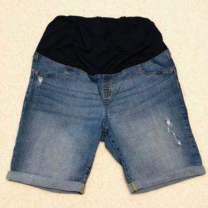 ISABEL Maternity Jean Denim Bermuda Shorts